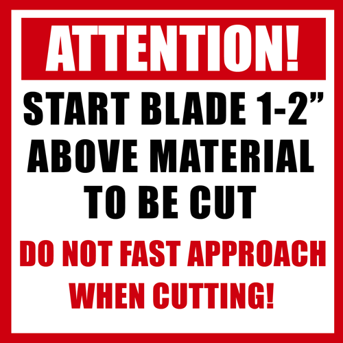 Attention Blade Cut
