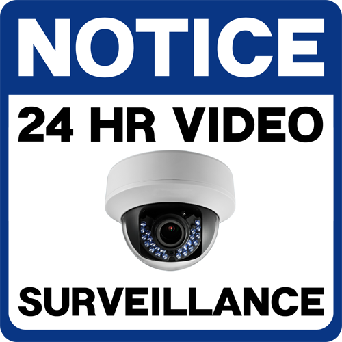 Notice 24HR Video Surveillance